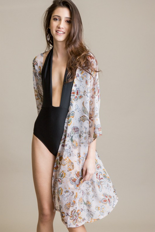 Gardenia Kimono Swimsuit Cover Up