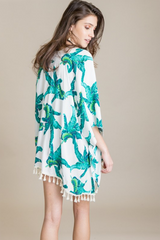 Palm Tree Kimono Swimsuit Cover Up