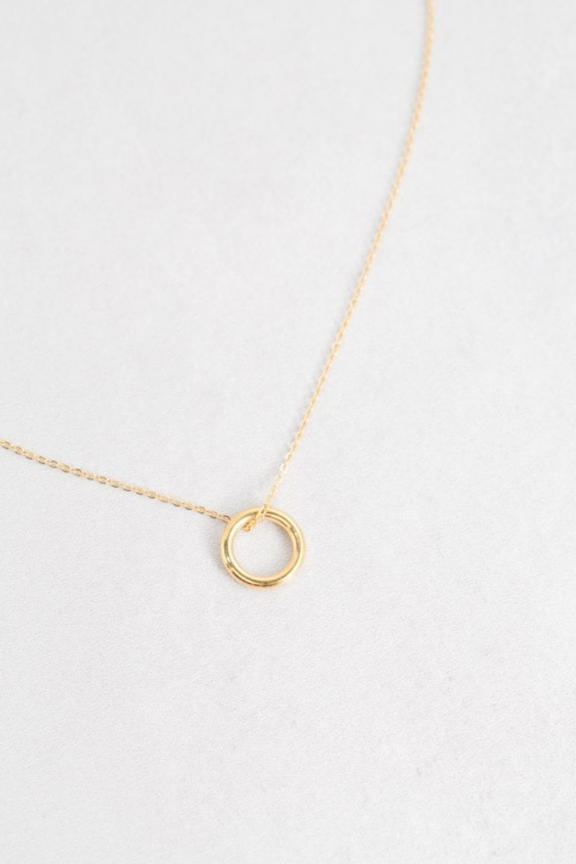 14k Ring Charm Necklace