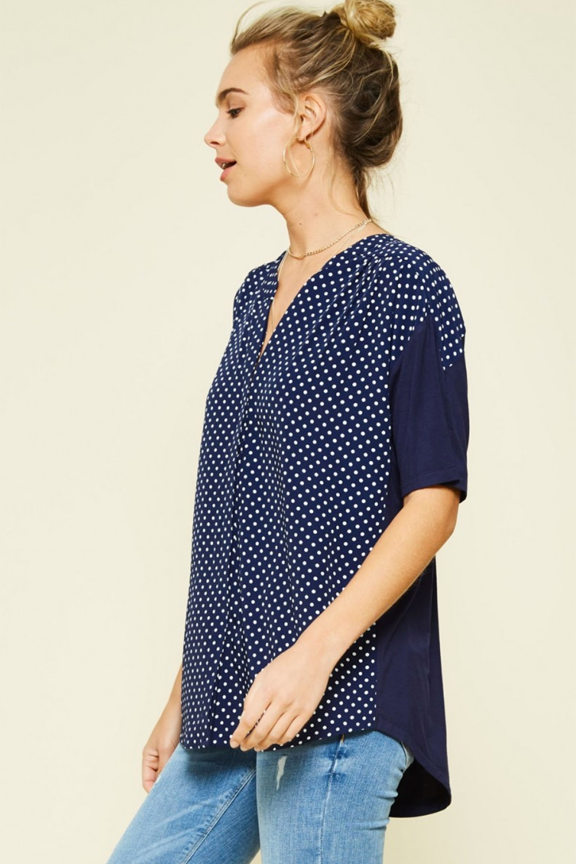 Button Up Polka Dot Top