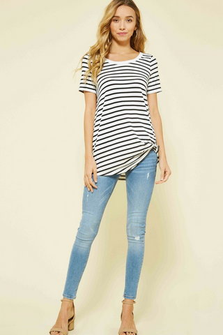 Premium Bamboo Striped Top - 2 Colors