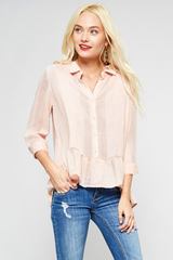 Lightweight Crochet Button Down Top