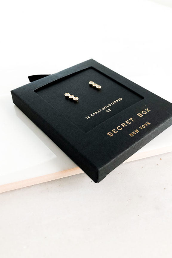14K Gold Dainty Alexandra Earrings