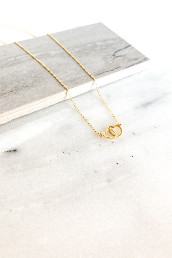 Dainty Double Heart Necklace