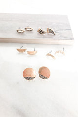 Moonlight Stud Earrings - Set of 5