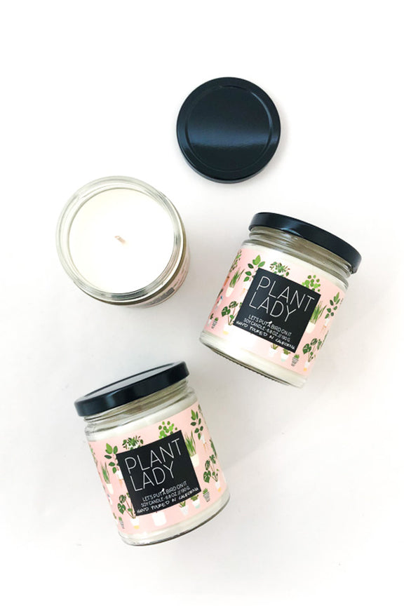Basil Lily Plant Lady Soy Jar Candle