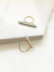 Natural Stone Bar Ring