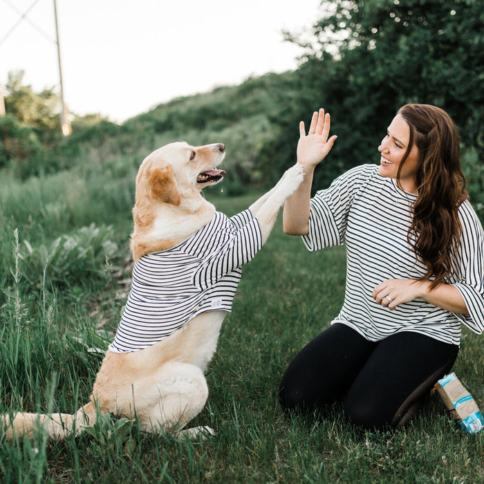 Matching Stripe Tees for Dogs and People