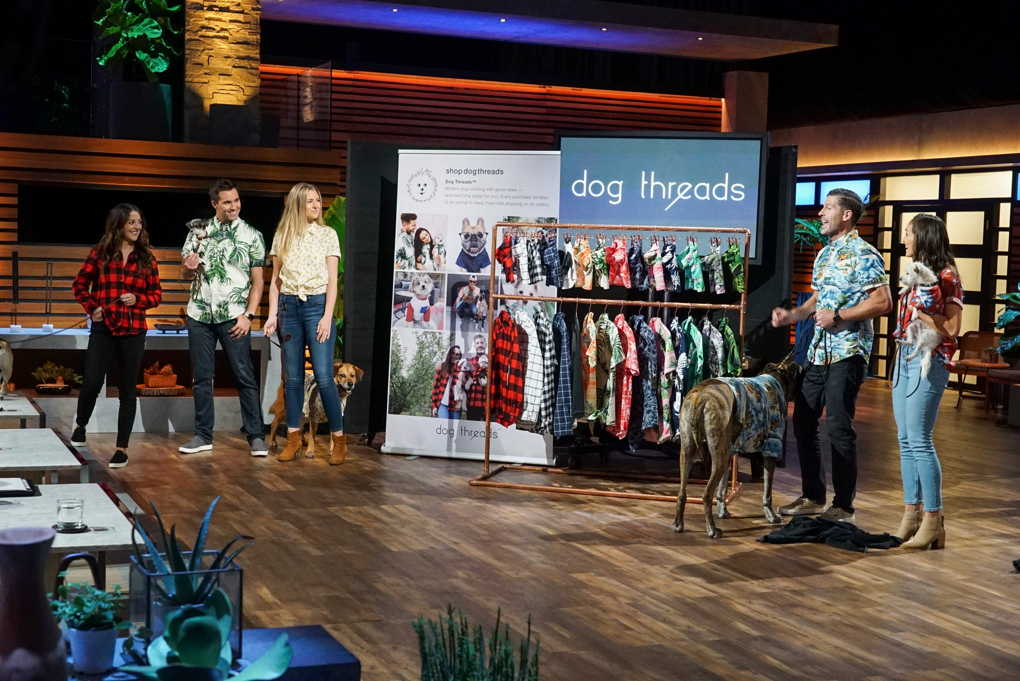 Matching Dog and People Clothing Company Dog Threads on ABC Shark Tank