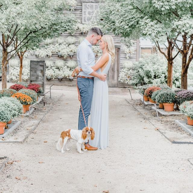 Dog Engagement Photos Outfit White Dress Shirt