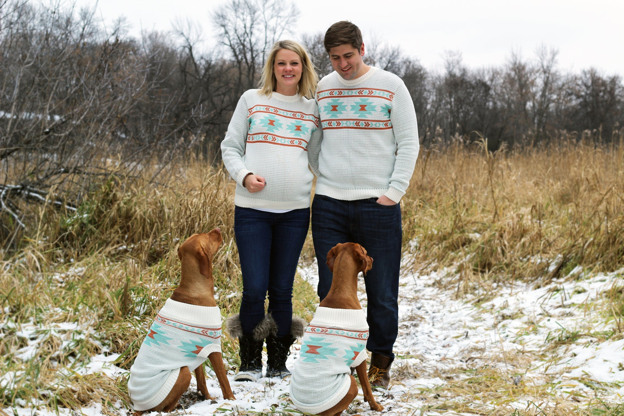 Matching Sweaters for Holiday Photos and Christmas - Dogs and People by Dog Threads x Squad Style