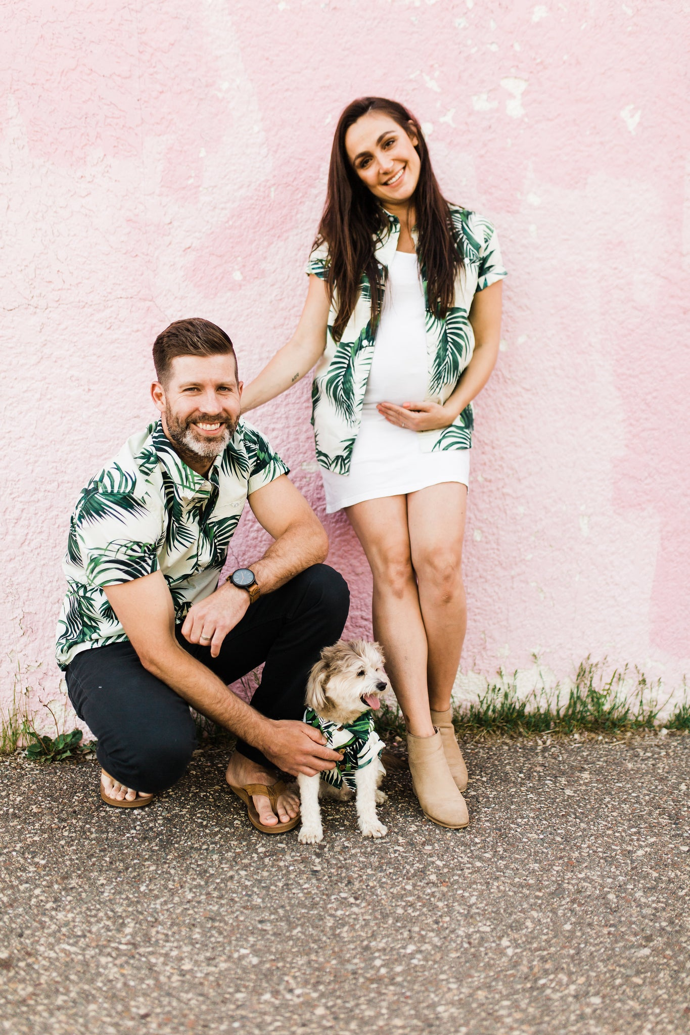 Matching Hawaiian Print Shirts for Families Friends and Dogs
