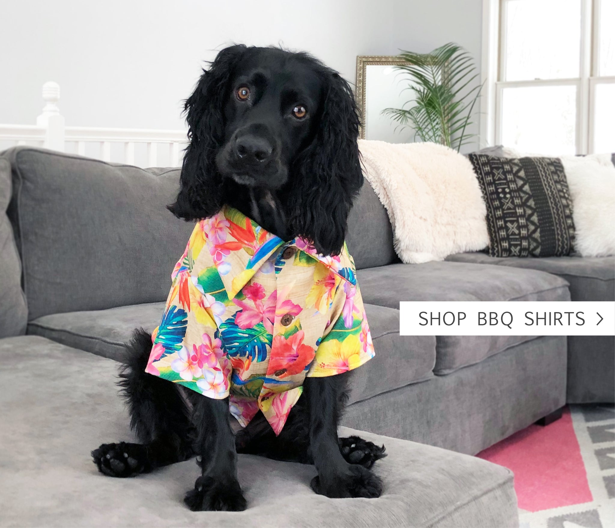 Hawaiian Print Shirts for Dogs by Dog Threads