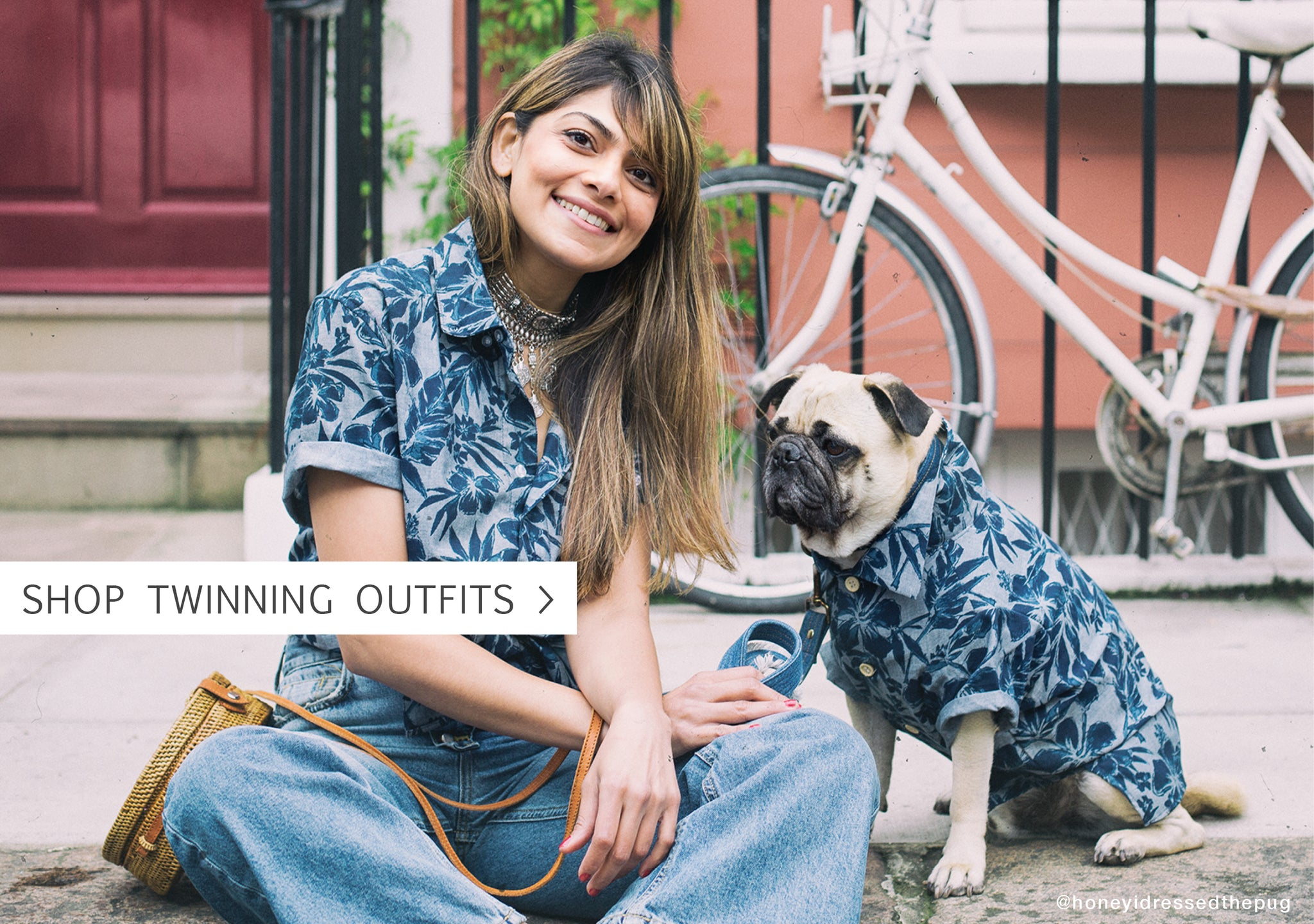 Matching Hawaiian Print Shirts for Dogs and Owner