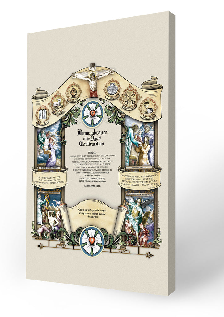 Remembrance Of The Day Of Confirmation Certificate Baptized Into