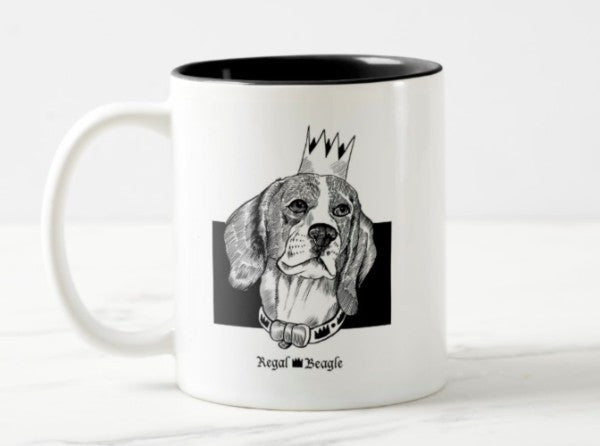 WonderWoof Beagle mug front view
