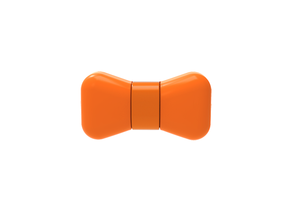 WonderWoof BowTie Dog Activity Tracker - Bad to the Bone Orange