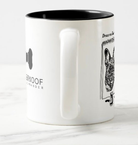 WonderWoof French Bulldog mug side view