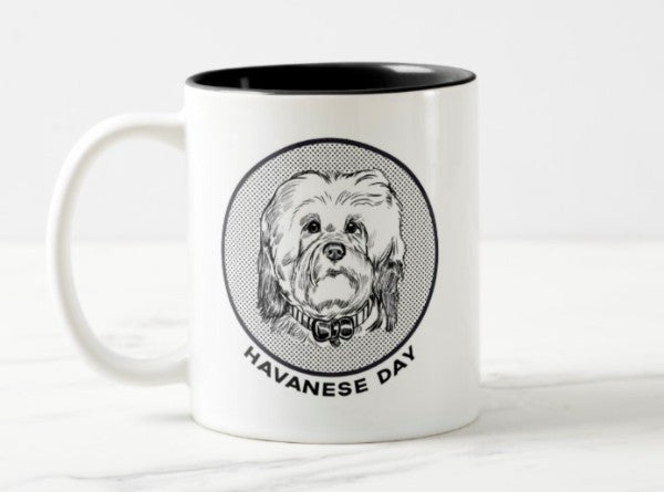 WonderWoof Havanese mug front view