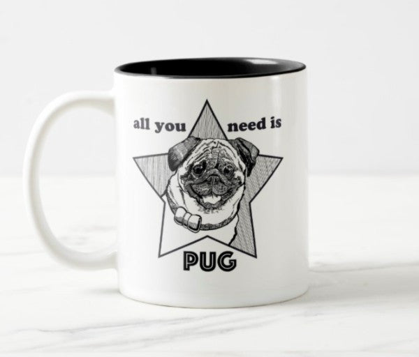 WonderWoof Pug mug front view