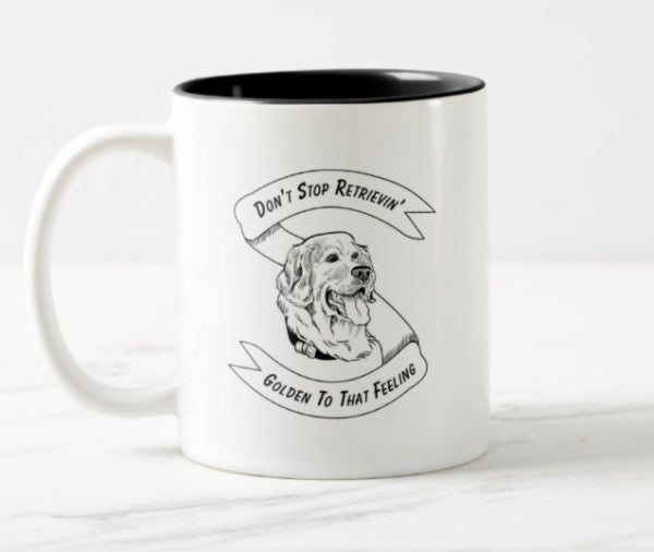 WonderWoof Retriever mug front view