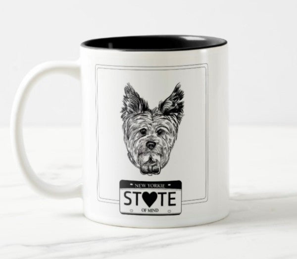WonderWoof Yorkie mug front view
