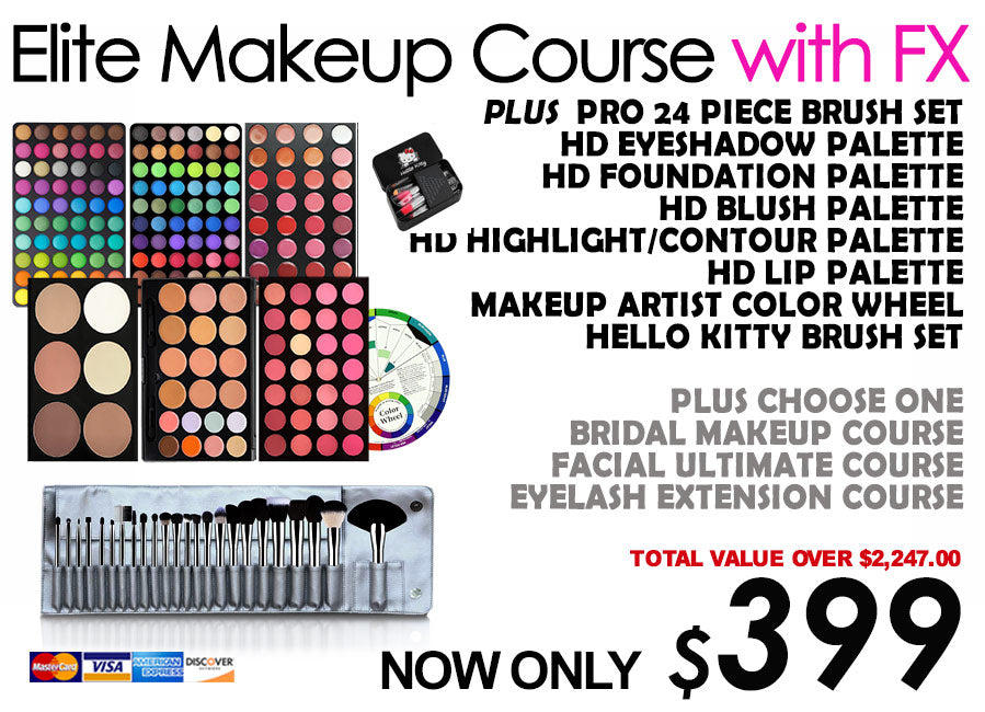 "Special Promotion ""Elite Makeup Course with FX"" no shipping"