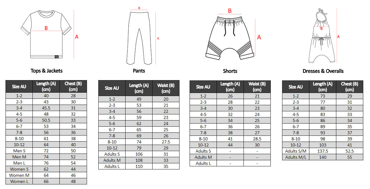 Sizing (Size Guide)