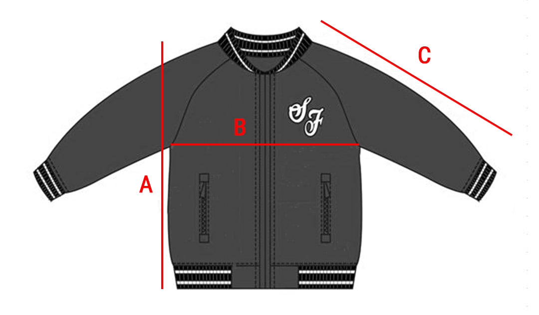 Kids Bomber Jacket Size Guide