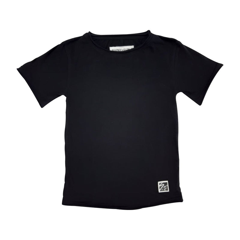 0 Basic Tee Black Tees + Tanks sunny+finn 1-2 australia kids