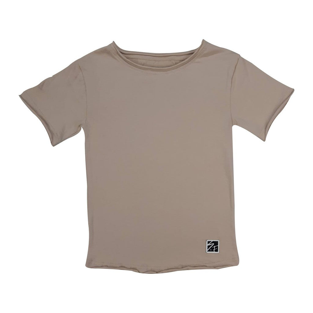 0 Basic Tee Cream Tees + Tanks sunny+finn australia kids