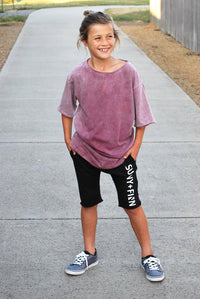 0 Branded Terry Shorts Black Pants + Shorts sunny+finn australia kids