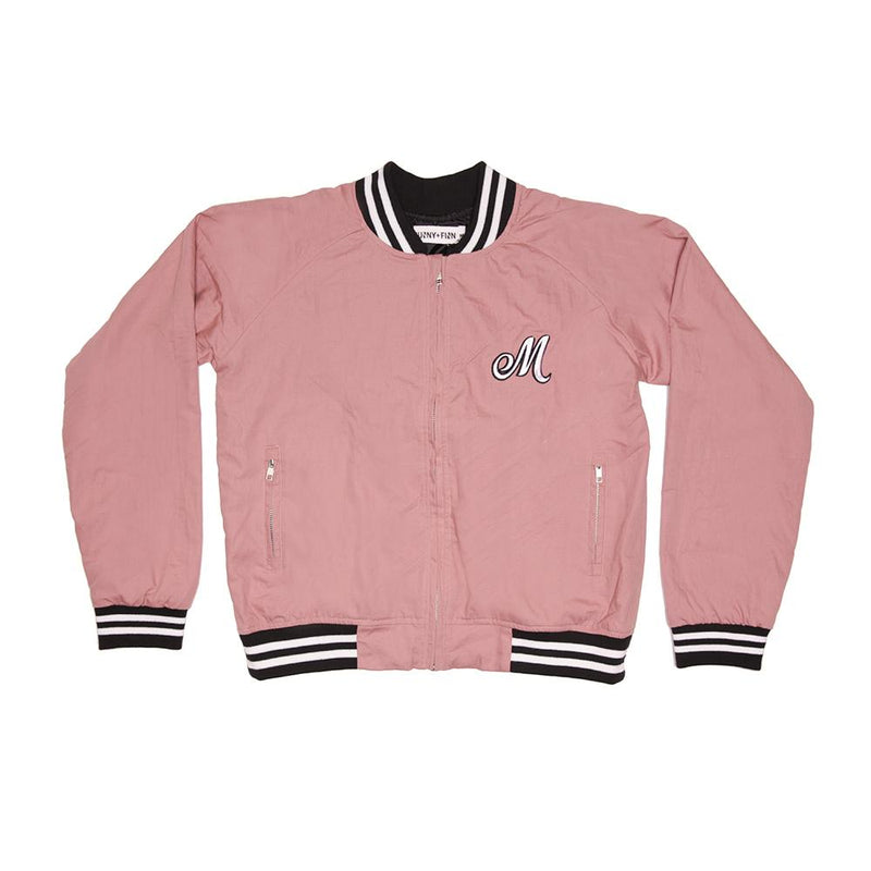 0 Personalised Adults Pink Bomber Jacket JACKETS + JUMPERS sunny+finn australia kids