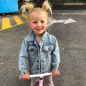 0 Personalised Denim Jacket sunny+finn australia kids