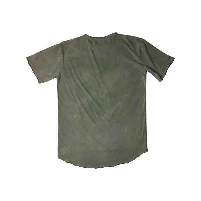 0 Scoop Back Basic Tee Vintage Green Adults Tees + Tanks sunny+finn australia kids