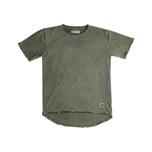 0 Scoop Back Basic Tee Vintage Green Adults Tees + Tanks sunny+finn S australia kids