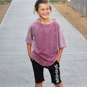 0 Scoop Back Basic Tee Vintage Pink Adults Tees + Tanks sunny+finn australia kids