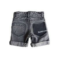 ACE SHORTS ACID WASHED BLACK Pants + Shorts sunny+finn australia kids