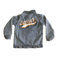 Custom Denim Jacket JACKETS + JUMPERS sunny+finn australia kids