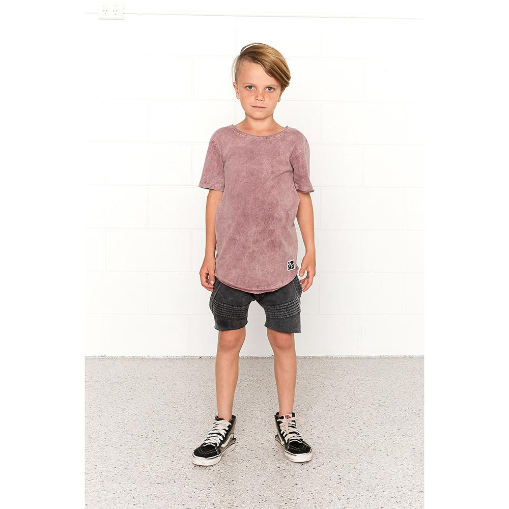 DASH SHORTS TERRY - VINTAGE BLACK Pants + Shorts sunny+finn australia kids