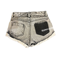 KENZIE SHORTS ACID WASHED BLACK Pants + Shorts sunny+finn australia kids