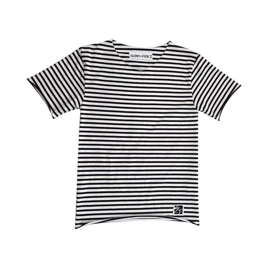 Longline Basic Tee - Stripes Tees + Tanks sunny+finn australia kids