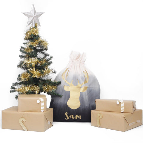 Ombre Personalised Santa Sack Christmas products sunny+finn australia kids