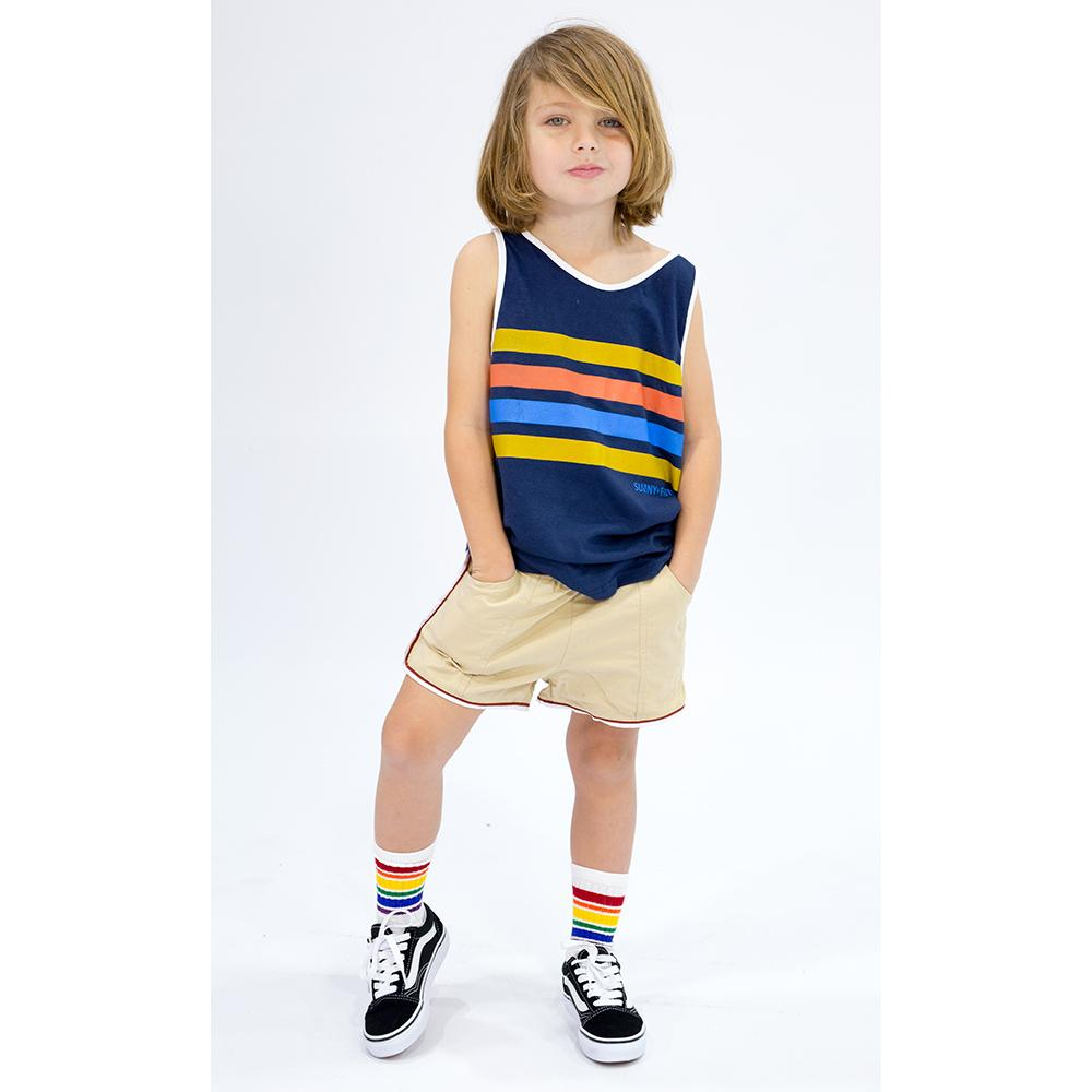ORTON STRIPED TANK Tees + Tanks sunny+finn australia kids
