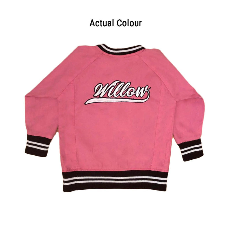 Personalised Adults Pink Bomber Jacket JACKETS + JUMPERS sunny+finn australia kids