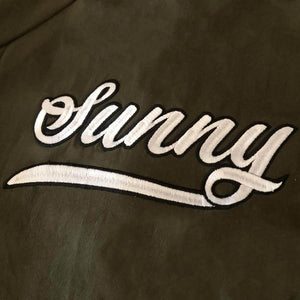 Personalised Khaki Green Bomber Jacket JACKETS + JUMPERS sunny&finn australia kids