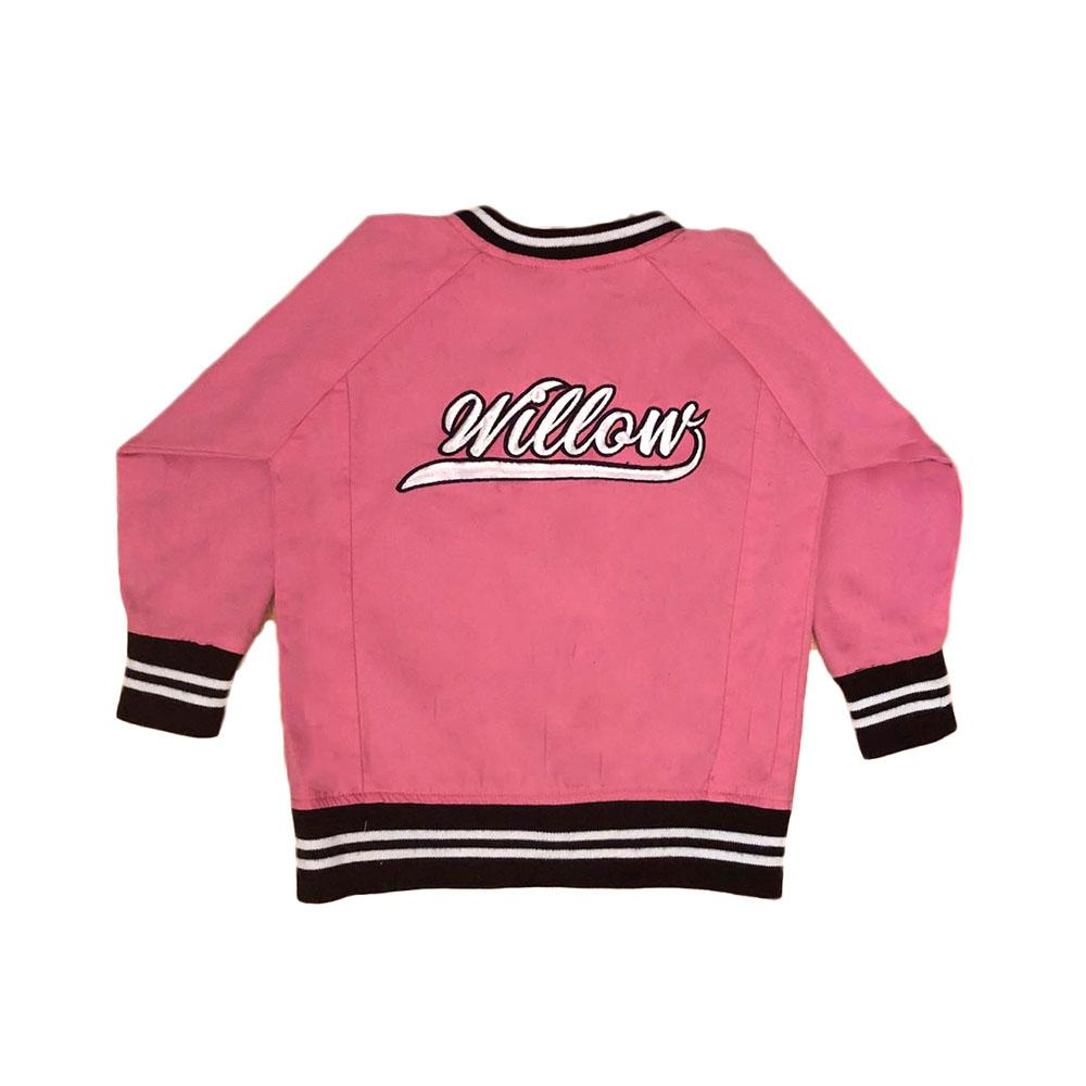 Personalised Pink Bomber Jacket JACKETS + JUMPERS sunny&finn 1-2 australia kids