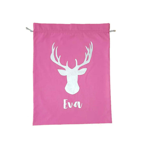 Pink Personalised Santa Sack Christmas products sunny+finn australia kids