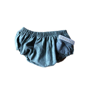 Vintage Wash Green Bloomers Pants + Shorts sunny+finn australia kids