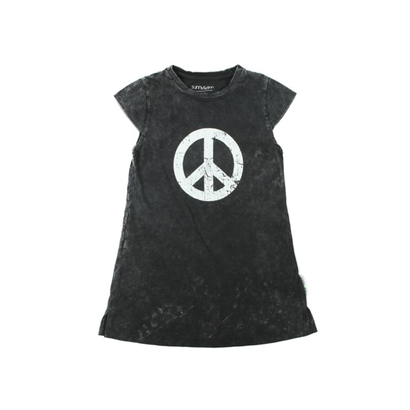 WILLOW KEEP THE PEACE DRESS STONEWASH GREY Dresses + Skirts Staple 8-10 australia kids